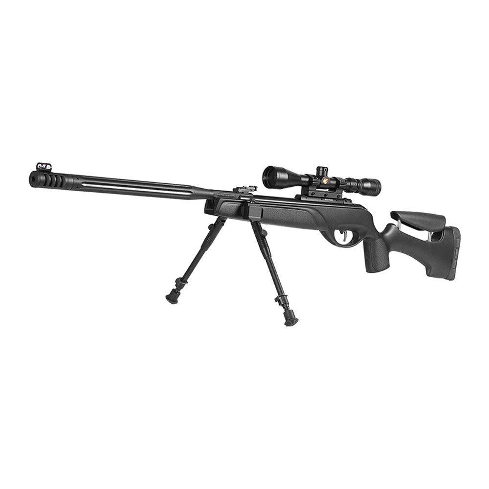 rifle gamo 5.5 HPA MI con mira telescópica y bípode