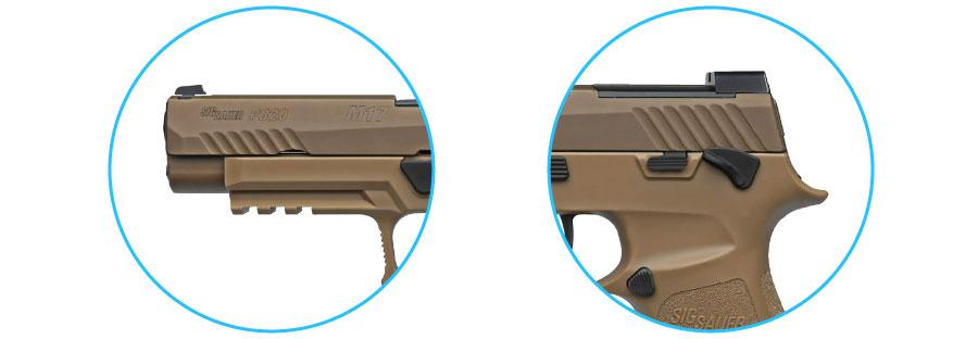 corredera pistola sig sauer p320 m17 ms