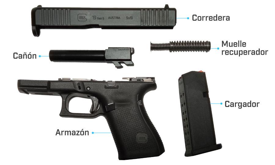 despiece glock 19 gen 5