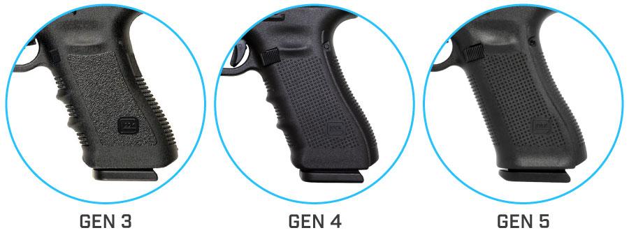 empuñadura pistola glock 17