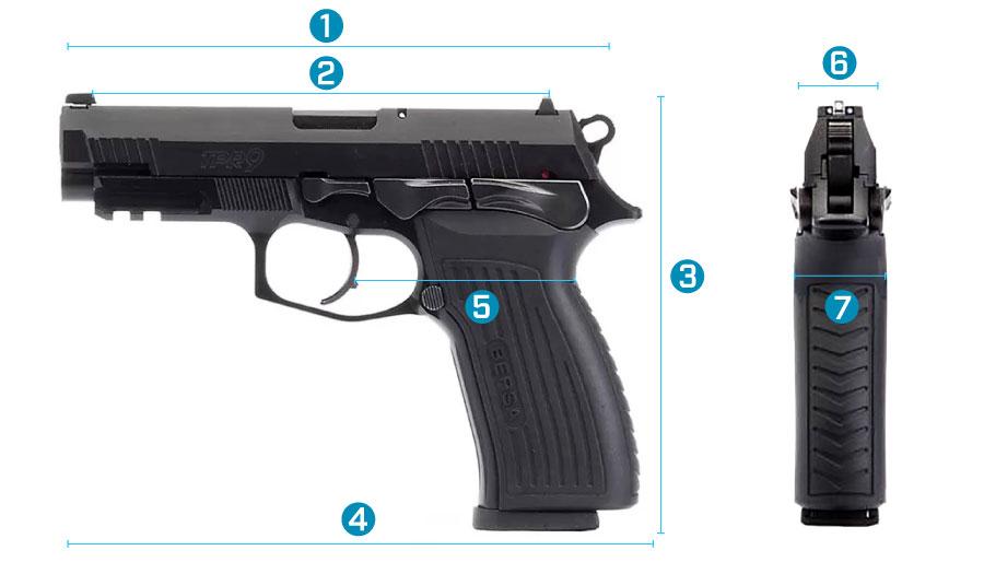 medidas del arma bersa tpr 9