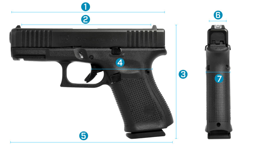 medidas del arma glock 19 gen 5