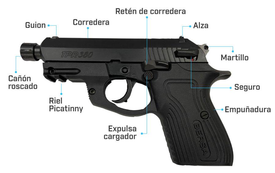 partes de la pistola bersa tpr380x
