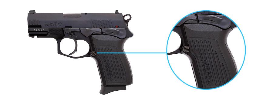 reten del cargador de la pistola bersa tpr 9c