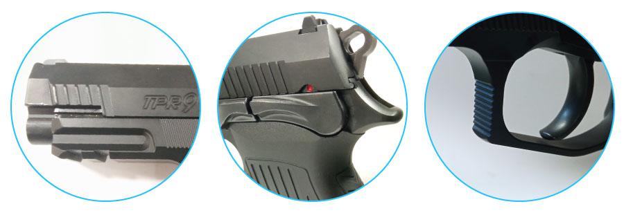 segrinados de la pistola bersa tpr9