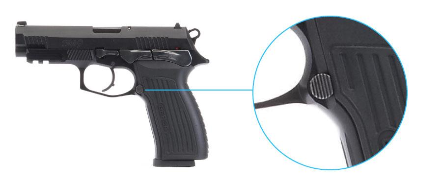 reten del cargador de la pistola bersa tpr 9