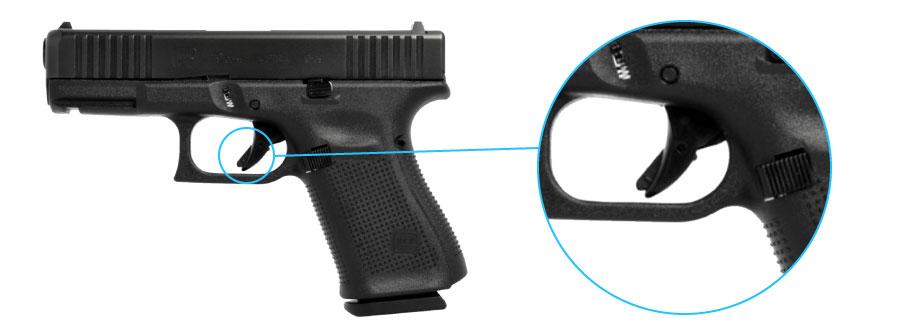seguro del gatillo pistola glock 19