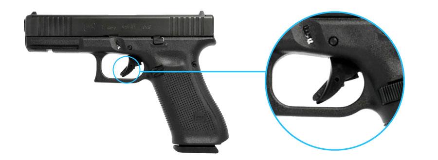 seguro de gatillo glock 17 generacion 5