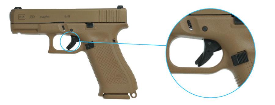 seguro de gatillo pistola glock 19x